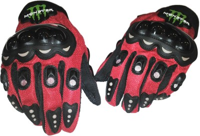 Monster Glove Riding Gloves (L, Red, Black)  available at flipkart for Rs.450