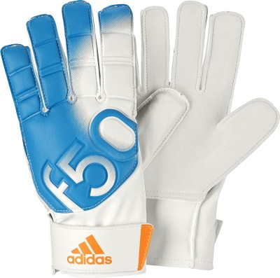 ADIDAS F50 Training Goalkeeping Gloves (M, White, Blue)