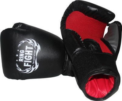Ring Fight Muay Thai Boxing Gloves Black, Red Ring Fight Boxing Gloves