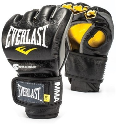 Everlast MMA Powerlock Martial Art Gloves (L, Black) at flipkart