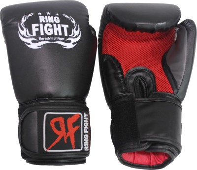 Ring Fight Muay Thai Boxing Gloves Black, Red