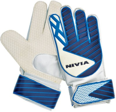 Nivia Armour (GG-892) Goalkeeping Gloves (M, White, Blue)