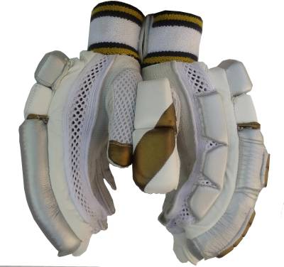 VSP LE Batting Gloves (Men, White, Gold)