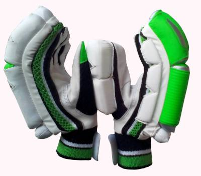 VSP Caribbean Batting Gloves (Men, White, Green)