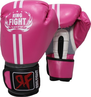 Ring Fight Pro Boxing Gloves Pink, Grey