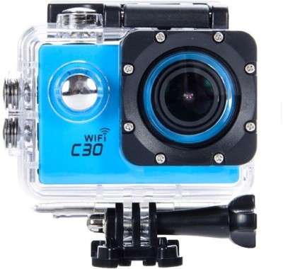 View Shrih New Waterproof WiFi Sports and Action Camera(Blue 12 MP) Price Online(Shrih)