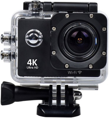 DMG 4K Wifi Waterproof Helmet 2 inch LCD Display Ultra-HD 12MP 170° Wide Angle Lens Full HD Sports and Action Camera(Black 12 MP) at flipkart