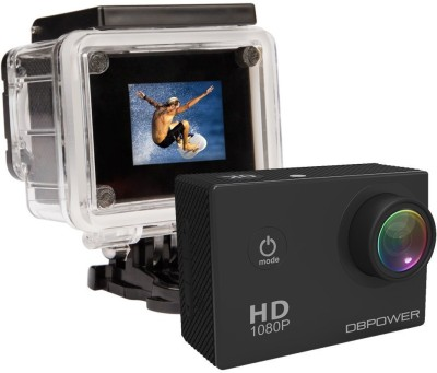 View DBPOWER Waterproof Action Sports and Action Camera(Black 12 MP) Price Online(DB Power)