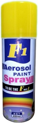 F1 Yellow Spray Paint 450 ml(Pack of 1) at flipkart
