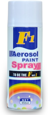F1 SHINE WHITE Spray Paint 450 ml(Pack of 1) at flipkart