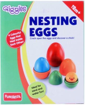 Funskool Giggles Nesting Eggs(Multicolor)