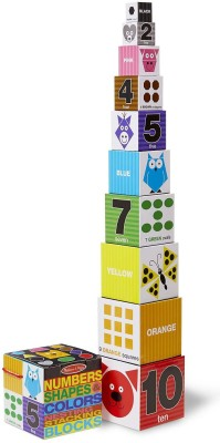 Melissa & Doug Nesting Blocks - Numbers, Shapes, Colors(Multicolor)
