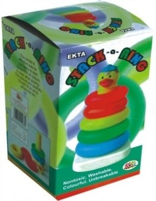 Ekta Stack A Ring Junior Preschool Game(Multicolor)