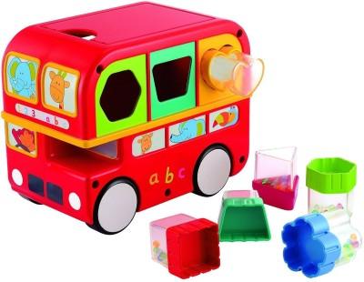 Funskool Giggles Shape Sorting Bus, Red(Multicolor)