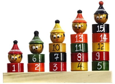Kalaplanet Stacker With Numbers(Multicolor)