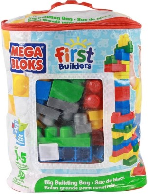 Mega Bloks Big Building Bag   80 Pieces Multicolor Mega Bloks Blocks   Building Sets