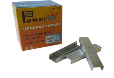 Infomate Manual 26/6 No stapler Pins(Set of 2, Grey)  available at flipkart for Rs.129