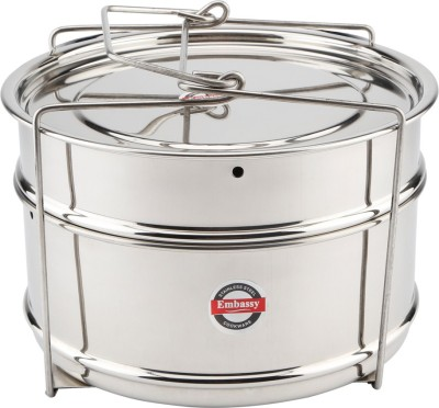 Embassy Cooker Separator Set Suitable for Prestige 5 Ltrs Deluxe & 5.5 Ltrs Popular Outer Lid Pressure Cookers Stainless Steel Steamer(5 L)  available at flipkart for Rs.849