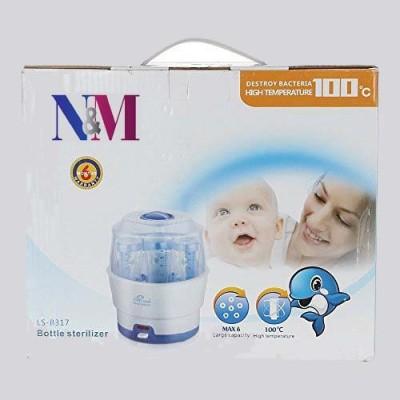 N&M 6 Feeding bottle Electric Steam Sterlizer - 6 Slots(White)