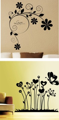 Decor Kafe Small Self Adhesive Sticker(Pack of 2) at flipkart