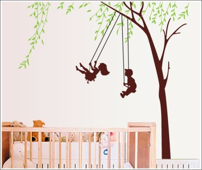 Oren Empower Swing Childhood Boy Girl Wall Stickers For Bedroom(166 cm X cm 170, Multicolor)  available at flipkart for Rs.349