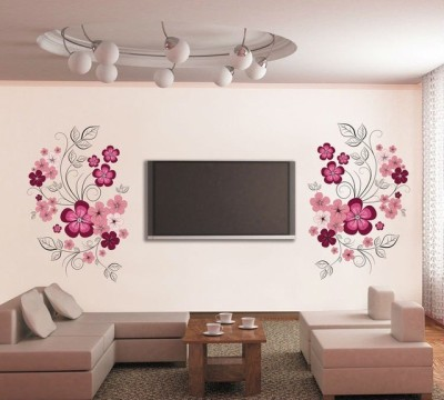 Oren Empower Very Sweet Decorative Pink Flower Wall Sticker 88 cm X cm 150, Multicolor