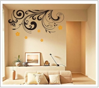 50 off on oren empower beautiful black flower large wall for Black wall mural