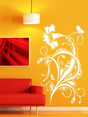 Trends on Wall Medium Nature Sticker(Pack of 1)