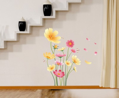 Oren Empower Putty Flower Wall Decoration For Bedroom(Multicolor)  available at flipkart for Rs.149