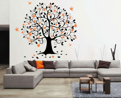 Decor Kafe Tiny Wall Sticker For Bedroom  Sticker(Pack of 1)