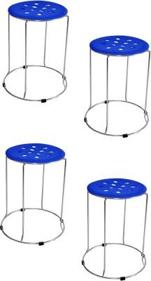 Zecado Solid Outdoor & Cafeteria Stool(Blue)