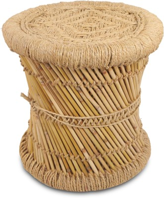 Brown Village Handcrafted Mooda Outdoor & Cafeteria Stool(Beige)