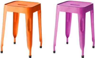 The Attic Outdoor & Cafeteria Stool(Purple, Orange)