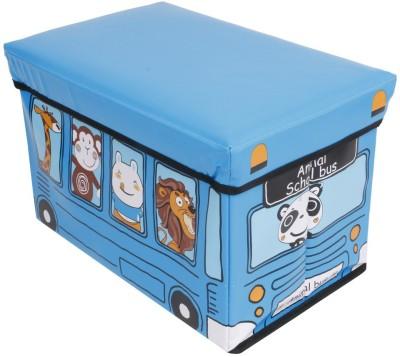 "Premsons Foldable Storage Cum (12x19"") Stool(Blue)"
