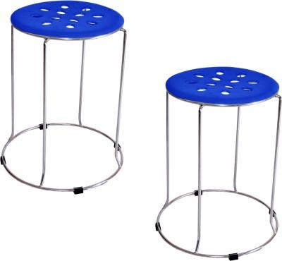 Zecado Large Blue Outdoor & Cafeteria Stool(Blue)