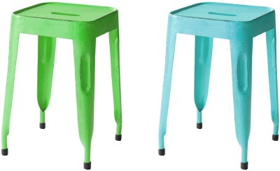 The Attic Outdoor & Cafeteria Stool(Grey, Green)