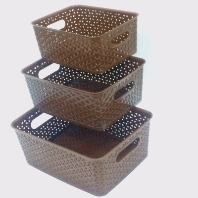 Fair Food Polypropylene Fruit & Vegetable Basket(Brown) at flipkart