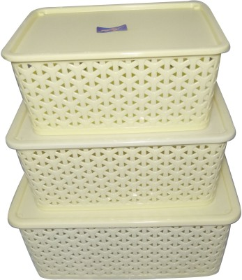 Fair Food Polypropylene Fruit & Vegetable Basket(White) at flipkart