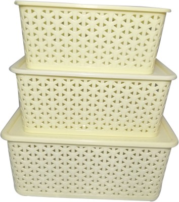 Fair Food Plastic Fruit & Vegetable Basket(White) at flipkart