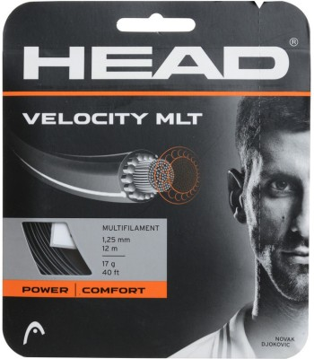 Head Velocity MLT Set 1.25 Tennis String   12 m Black