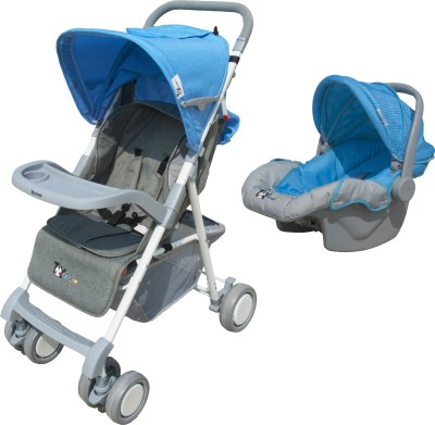 Toy House Stroller with Car Seat Combo, Blue(3, Multicolor)