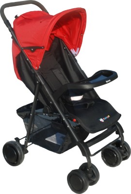 Toy House Premium Stroller, Red Stroller(3, Multicolor)