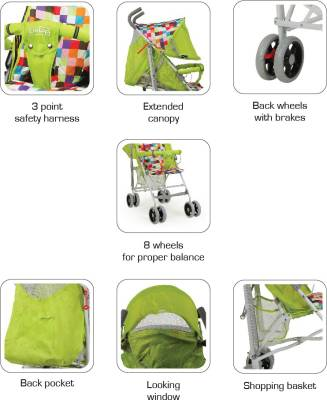 Luvlap Comfy Baby Buggy (Blue)