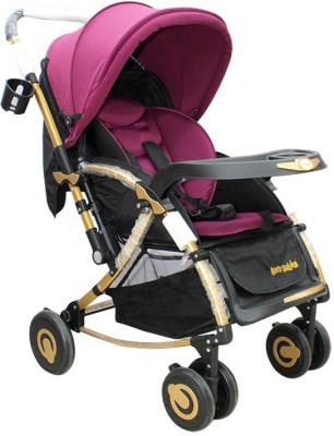 Born Babies BABY STROLLER Pram(3, Pink) at flipkart