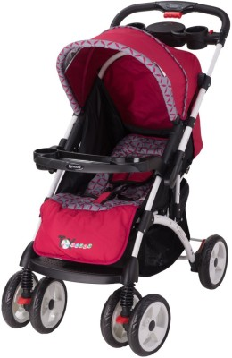 Toy House Premium Baby Stroller(3, Red)