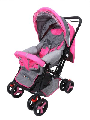 Toy House Baby Stroller Stylish Pram Pram(3, Pink)