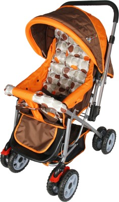 Toy House Baby Stroller Pram Pram(3, Orange)