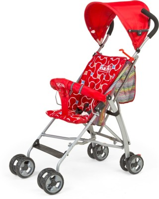 LuvLap Sunshine Baby Buggy Stroller(Red)