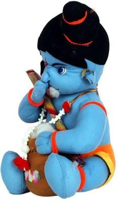 Turban Toys Makhan Chor Indian God Soft Krishna  Large   14 inch Blue Turban Toys Soft Toys