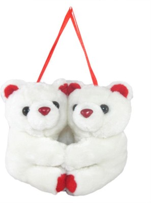 Tickles Hanging Loveable Couple Teddy   10 cm White Tickles Soft Toys